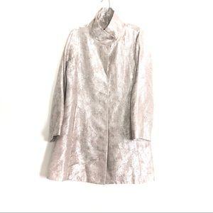 Eileen Fisher Jacquard metallic jacket coat S M